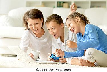 família, jogos de computador