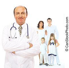 família jovem, doutor