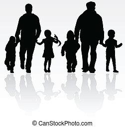 família, junto