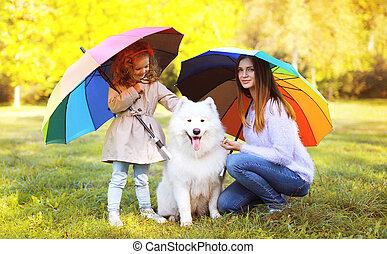família, lazer, tempo, e, pessoas, conceito, -, mãe, criança