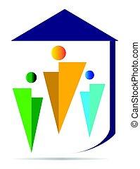 família, logotipo