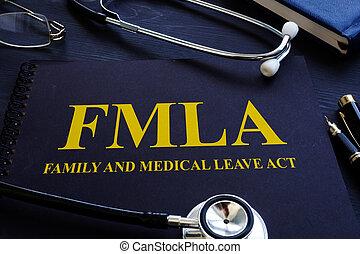 família, médico, licença, fmla, ato, stethoscope.