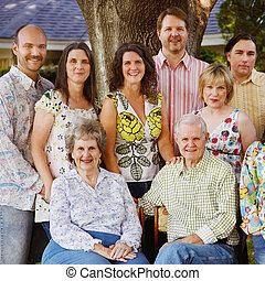 família multi-geração, reunião