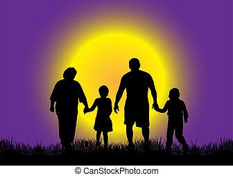 família, natureza