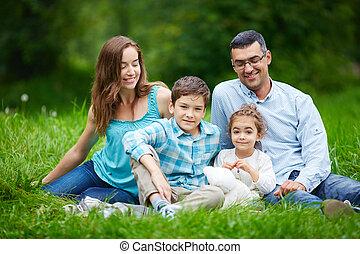 família, parque