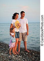 família praia
