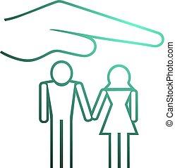 família, proteja, símbolo