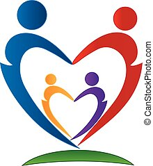 família, símbolo, logotipo