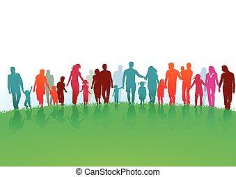 famílias, grupos