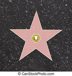 fama, passeio, estrela