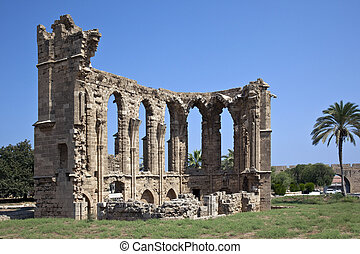 Famagusta - Northern Cyprus - The Gothic ruins of the Church...
