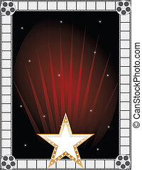 Fame Background - A border or frame featuring a golden star...