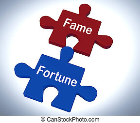 Fame Fortune Puzzle Showing Celebrity Or Well Off