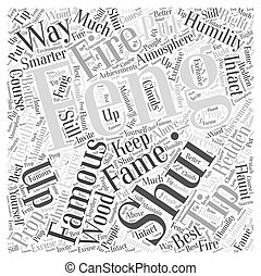 Fame from Feng Shui Word Cloud Concept