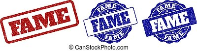 FAME Grunge Stamp Seals - FAME grunge stamp seals in red and...