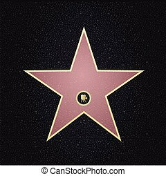 Fame star with place for name. Top view