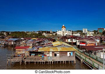 Famed water village of Brunei's cap - Brunei's capital...