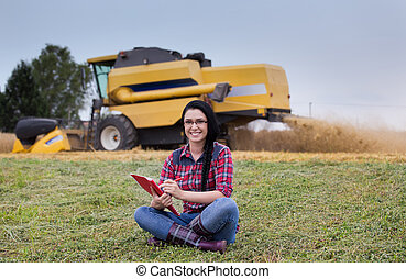 Famer girl in the field