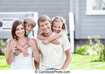 famiglia, abbracciare