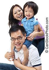 famiglia asiatica
