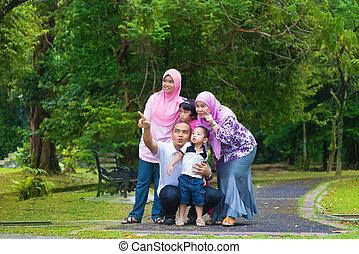 famiglia, asiatico