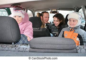 famiglia, automobile