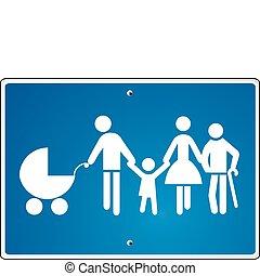 famiglia, avvertimento, esteso