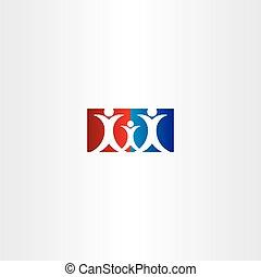 famiglia, bambino, padre, madre, logotipo, icona
