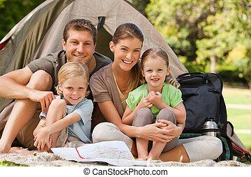 famiglia campeggia, parco