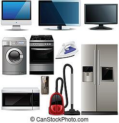 famiglia, elementi, elettronico