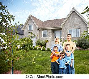 famiglia felice, appresso, nuovo, house.