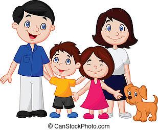 famiglia felice, cartone animato