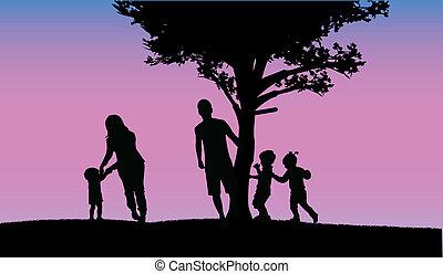 famiglia, felice