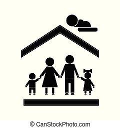 famiglia, figura bastone