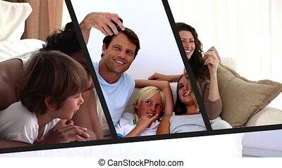 famiglia, fotomontaggio