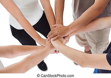 famiglia, impegno, e, sostegno