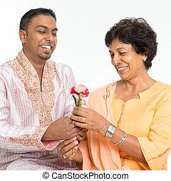 famiglia, indiano, giorno, celebrare, madri