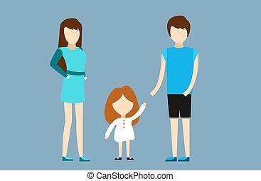 famiglia, insieme, felice