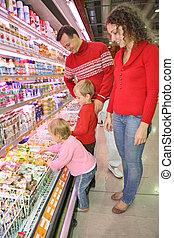 famiglia, supermercato