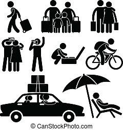 famil, tourist, reise, urlaub, reise