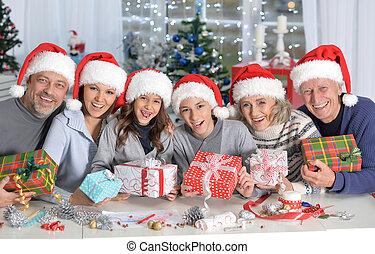 familia , celebrar, chrismas