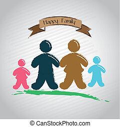familia , cinta, feliz