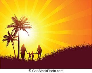 familia , de vacaciones