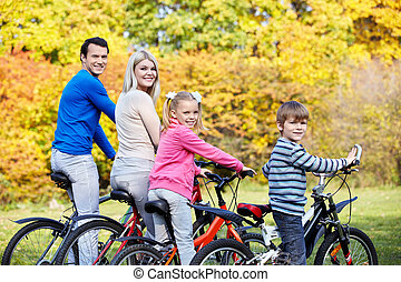familia , en, bicycles