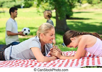 familia , en el parque