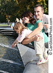 familia , en, fontain, 2