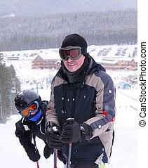 familia , esquí