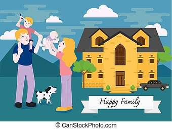 familia, feliz