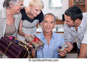 familia , fiesta de cumpleaños