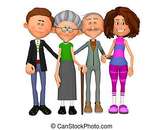 familia , generaciones, dos
